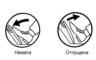 Педаль акселератора нажата отпущена 1AZ-FE TOYOTA RAV4