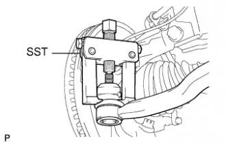 Ступица переднего колеса TOYOTA RAV4 / ACA30, 33, 38 ALA30