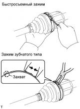Передний приводной вал в сборе (для привода на одну ось) РАЗБОРКА