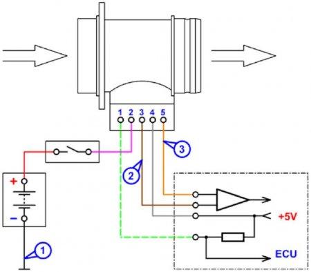 Схема подключения к датчику