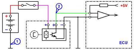 Схема датчика холла 2109