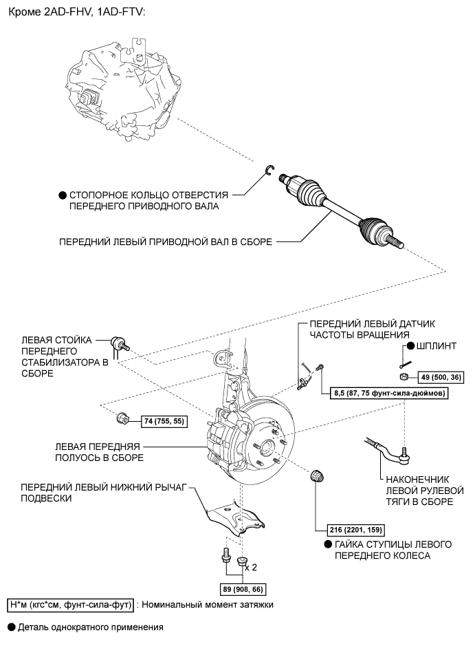 Схема вала тойота королла