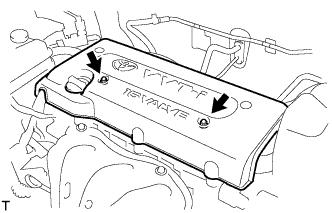 Зазоры клапанов двигателя 1AZ-FE