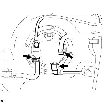 Регулятор давления в топливной системе 1AZ-FE. Снятие