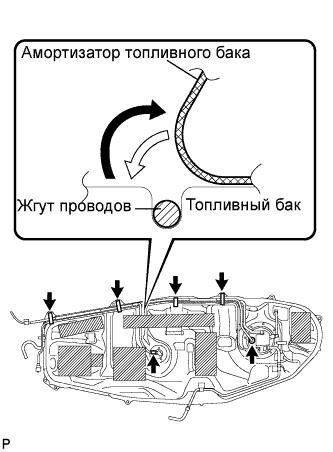 Топливный бак RAV4 1AZ-FE Установка