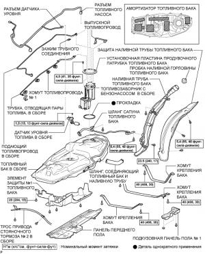 Топливный насос 1AZ-FE Узлы и детали