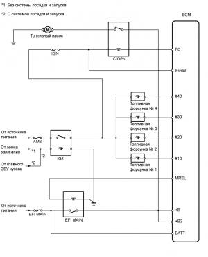 Топливная система 1AZ-FE Схема системы