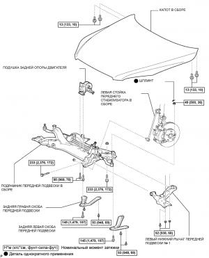 Нижний рычаг передней подвески № 1 (для моделей с автоматической трансмиссией)