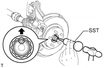 Ступица переднего колеса Снятие