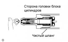 Сапун. Система снижения токсичности 1AZ-FE Проверка и установка
