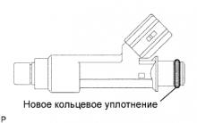 Топливная форсунка 1AZ-FE Установка