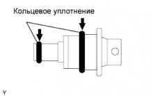 Регулятор давления в топливной системе 1AZ-FE. Установка
