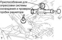 Система охлаждения 1AZ-FE Проверка без снятия