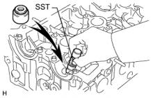 Сборка клапанов и распредвала двигателя 1AZ-FE
