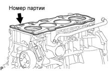 Головка блока цилиндров двигателя 1AZ-FE Установка