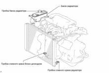 Система охлаждения 1AZ-FE Замена охлождающей жидкости