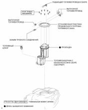 Адсорбер. Система снижения токсичности 1AZ-FE Узлы и детали