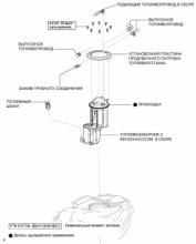 Регулятор давления в топливной системе 1AZ-FE. Узлы и детали