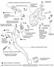 Педаль сцепления (для левостороннего рулевого управления)