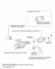 Главный цилиндр сцепления (для левостороннего рулевого управления)